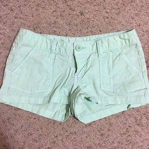 Mossimo Mint Green Low High Twill Short